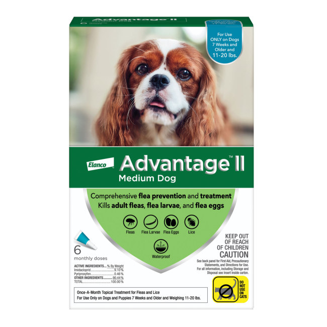 Advantage II for Dogs 1120 lbs 6pk