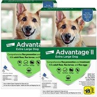 12 MONTH Advantage II Flea Control for Extra Large Dogs Over 55 lbs