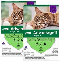 12 MONTH Advantage II Flea Control Large Cat for Cats over 9 lbs.