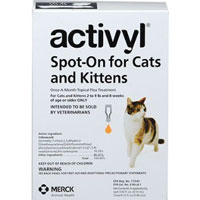 Activyl For Small Cats 29 lbs Orange 4 Pack