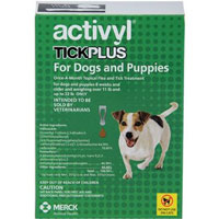 Activyl Tick Plus For Small Dogs 14  22 lbs Orange 4 Pack