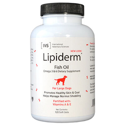 Lipiderm Gel Capsules Large Dogs 120 ct