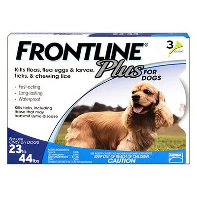 Frontline Plus 3pk Dogs 23-44 lbs