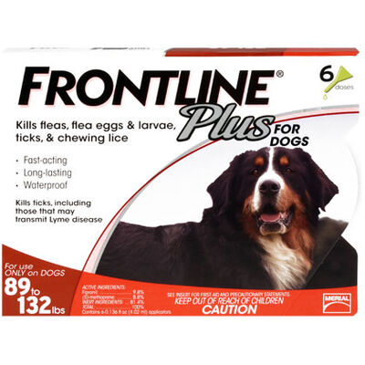 Frontline Plus 6pk Dogs 89-132 lbs