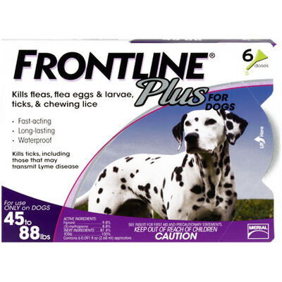 Frontline Plus 6pk Dogs 45-88 lbs