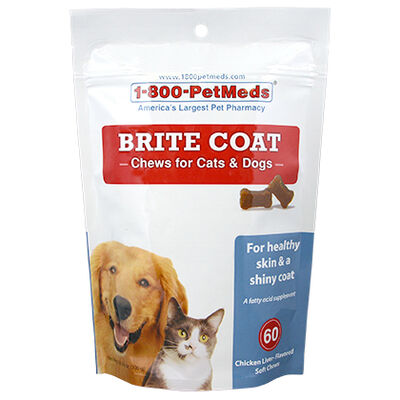 Brite Coat Chews for Cats & Dogs 60 ct
