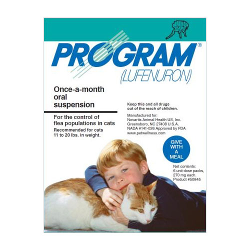 Program Oral Suspension Large Cat 11-20 Lbs Teal 12 Ampules