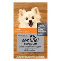Sentinel Spectrum Orange For Dogs 2-8 Lbs 6 Chews
