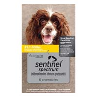 Sentinel Spectrum Yellow For Dogs 25.1-50 Lbs 12 Chews