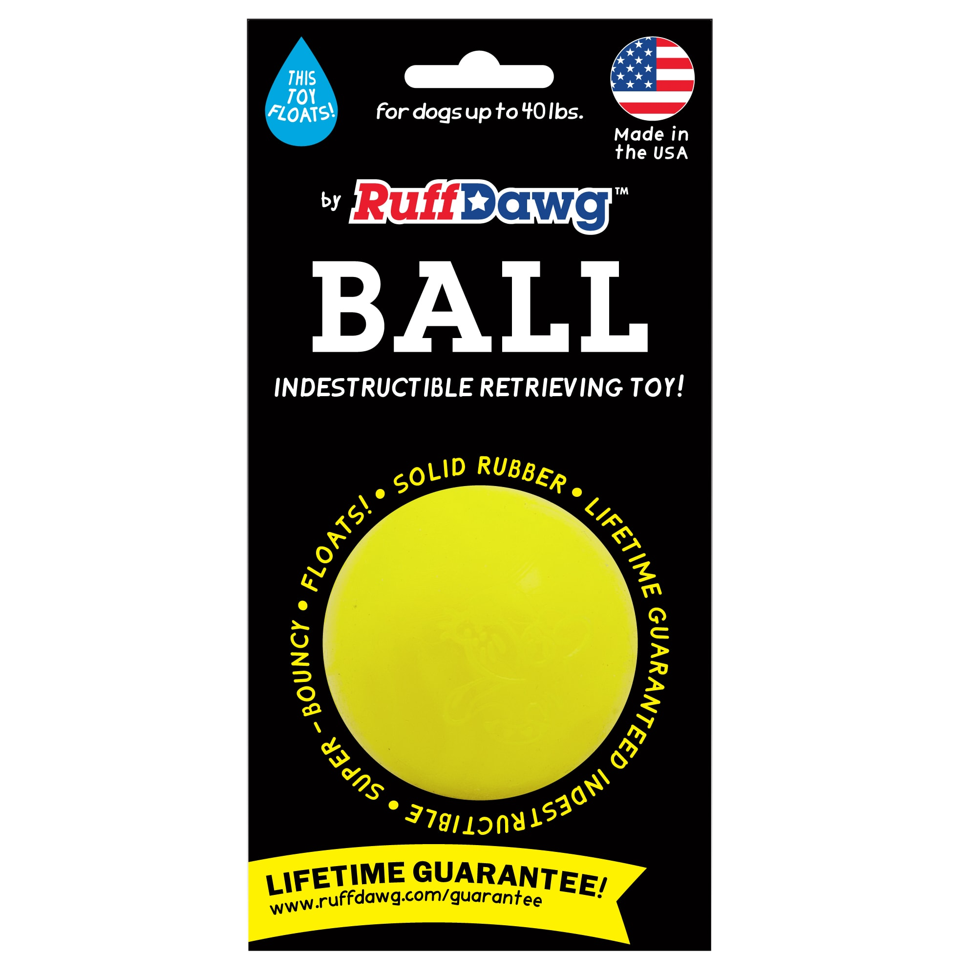 Ruff Dawg Ball Rubber Assorted Dog Toy