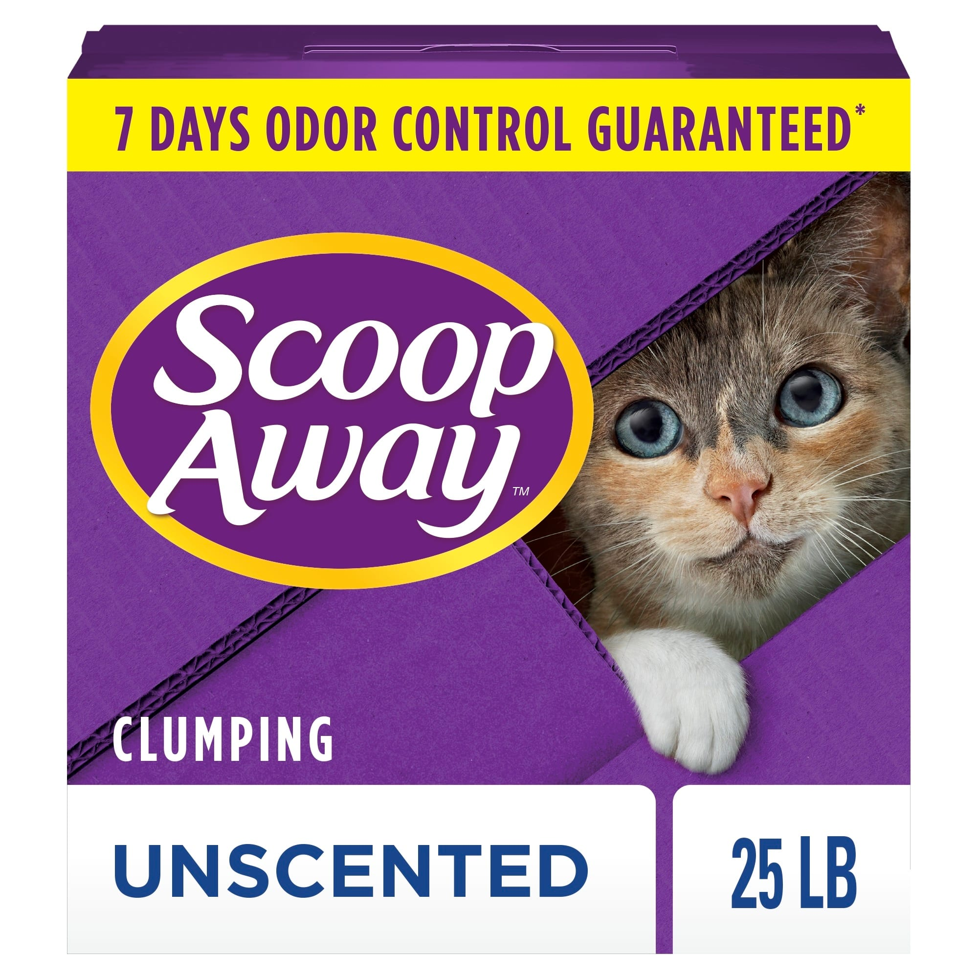 Scoop Away Unscented Clumping Cat Litter, 25 lbs.