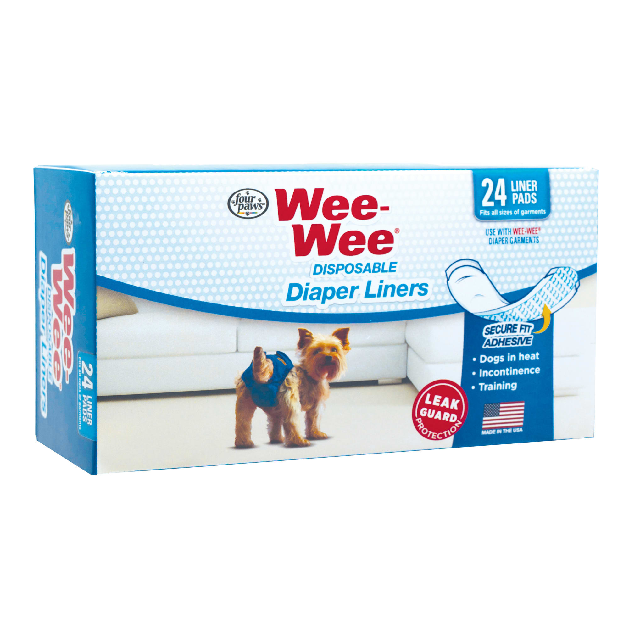 Wee-Wee Disposable Diaper Liners, 24 Pack