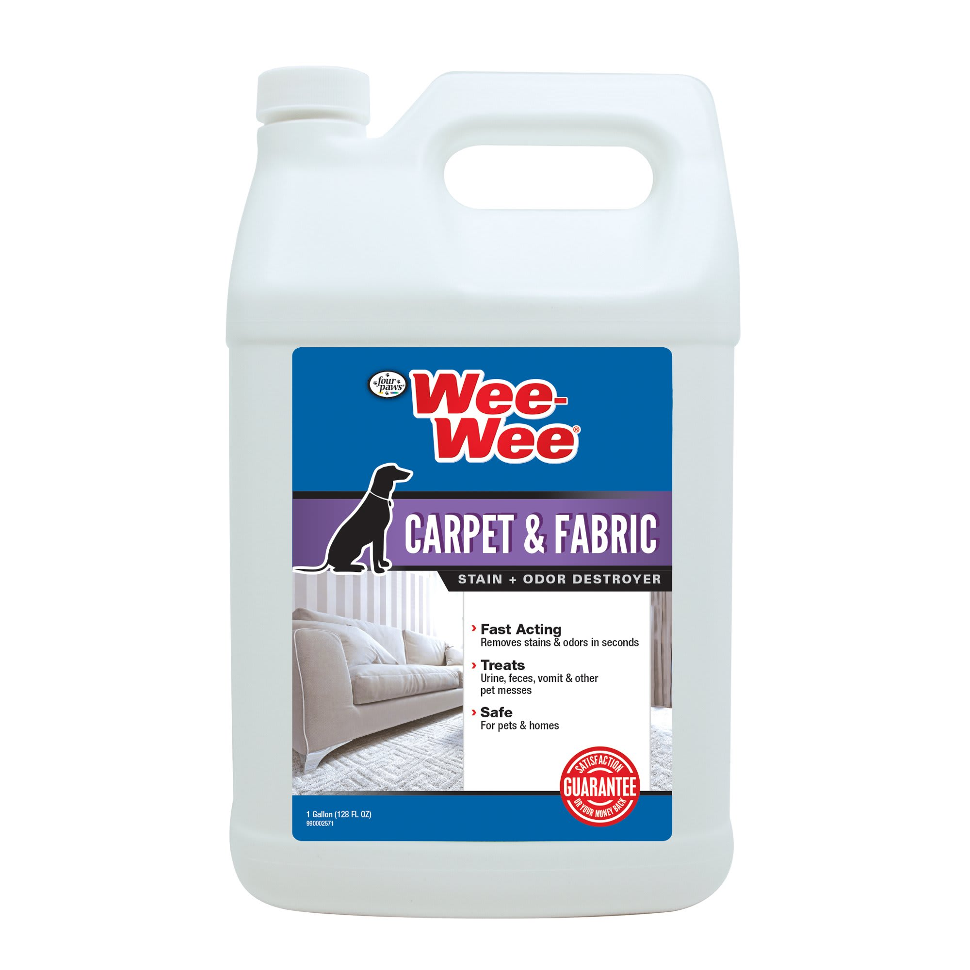 Wee-Wee Carpet & Fabric Cleaner Stain & Odor Remover, 128 oz., 128 FZ