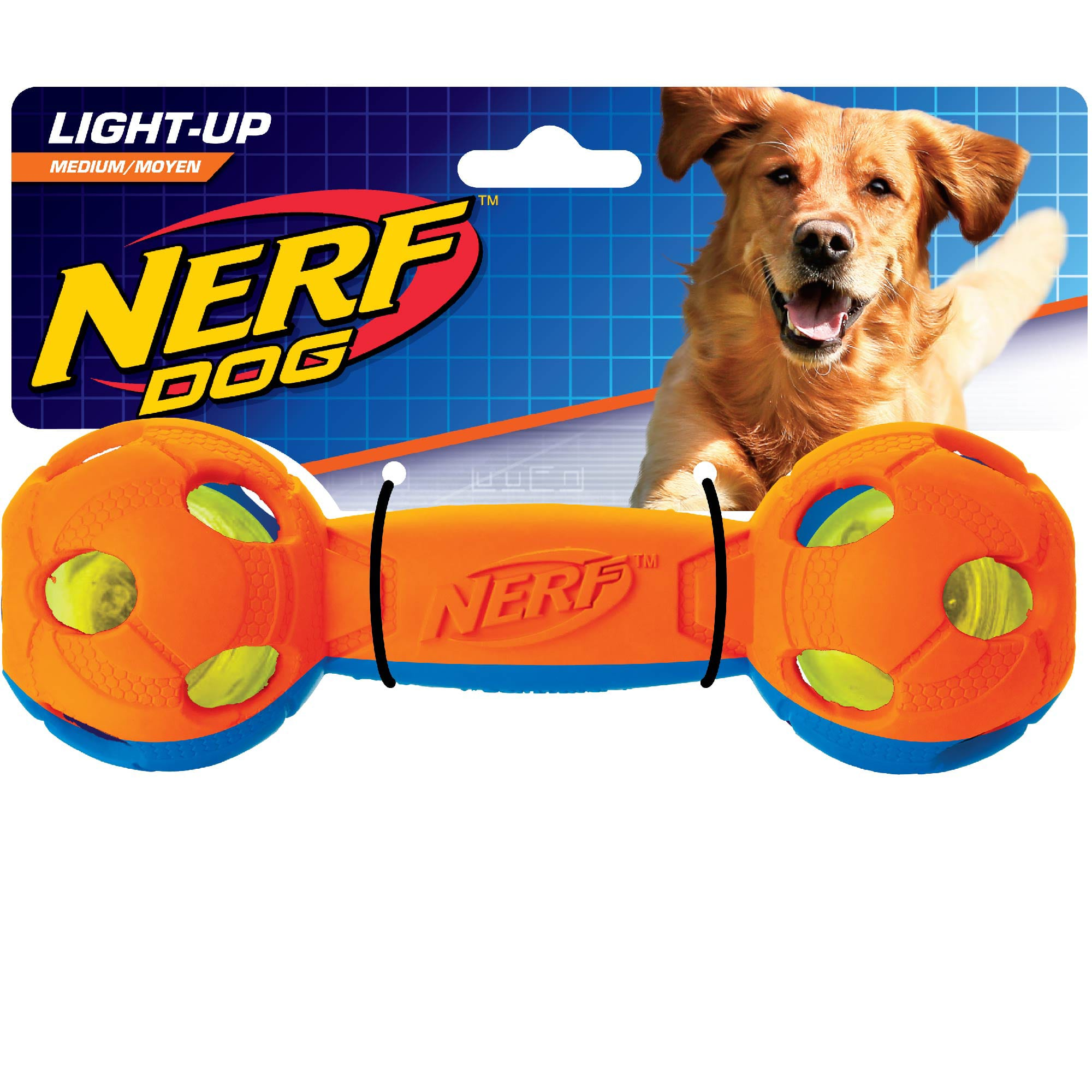 Nerf Dog LED Bash Barbell, X-Small