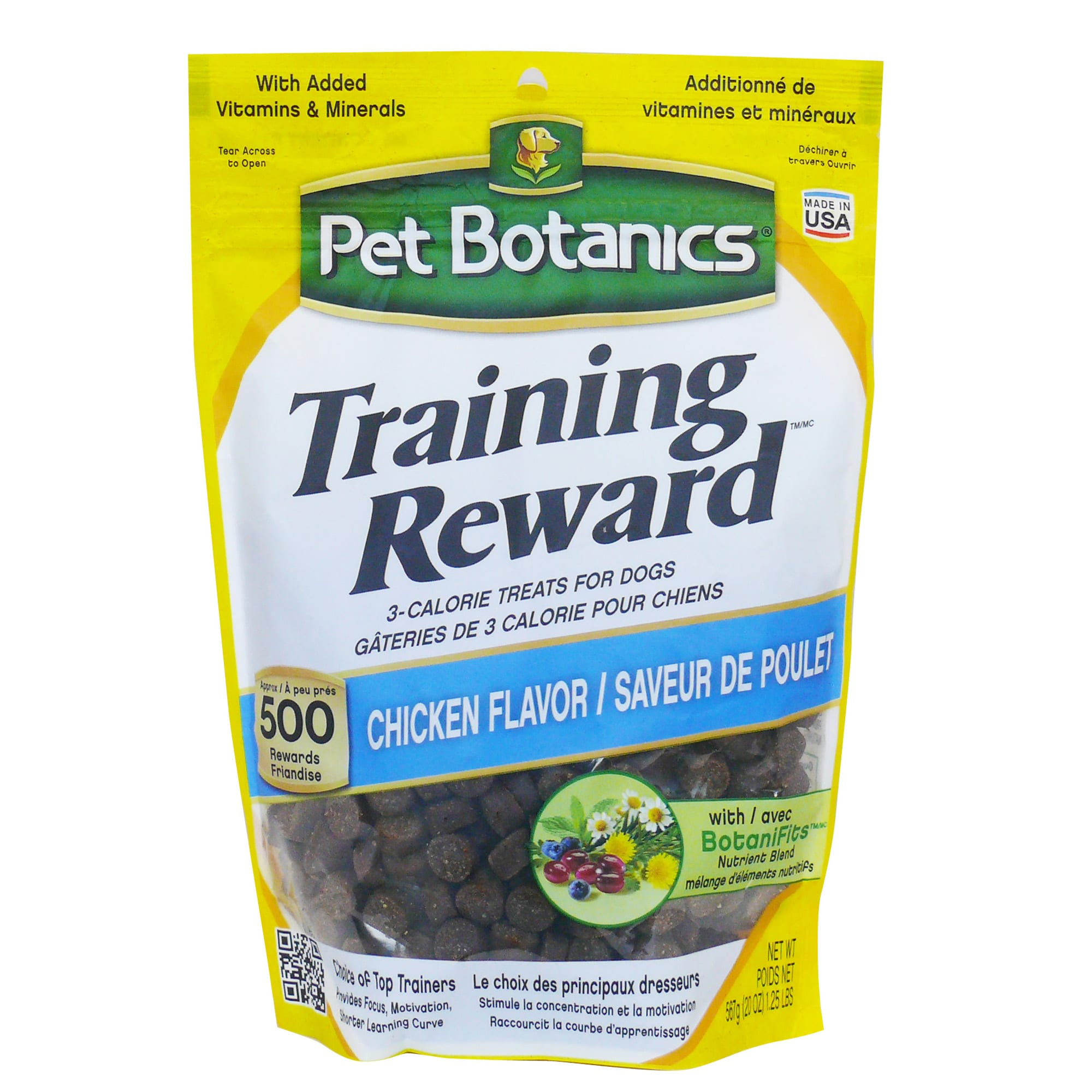 Pet Botanics Training Reward Chicken Flavor Dog Treats, 20 oz. bag, 500 count