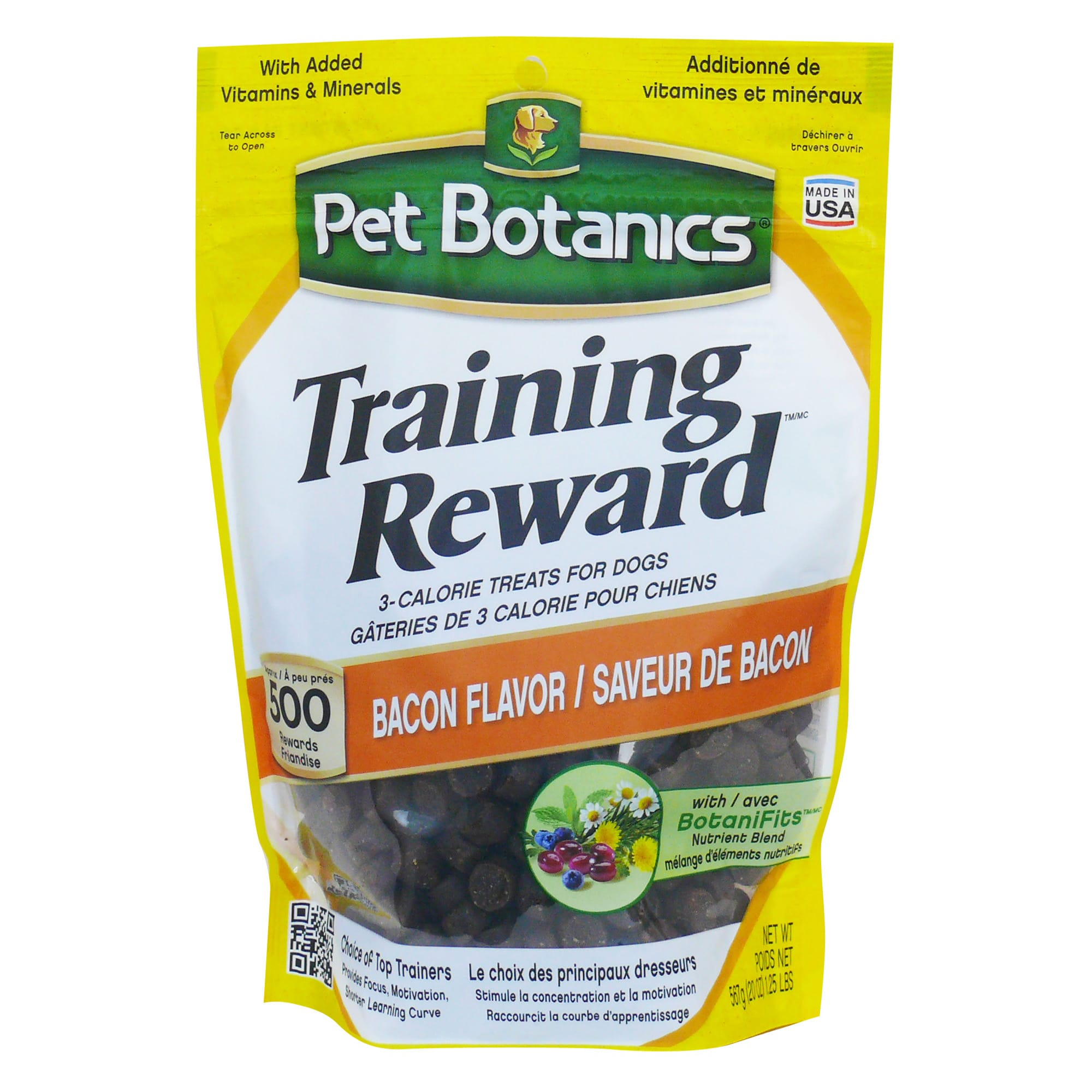 Pet Botanics Training Reward Bacon Flavor Dog Treats, 20 oz. bag, 500 count
