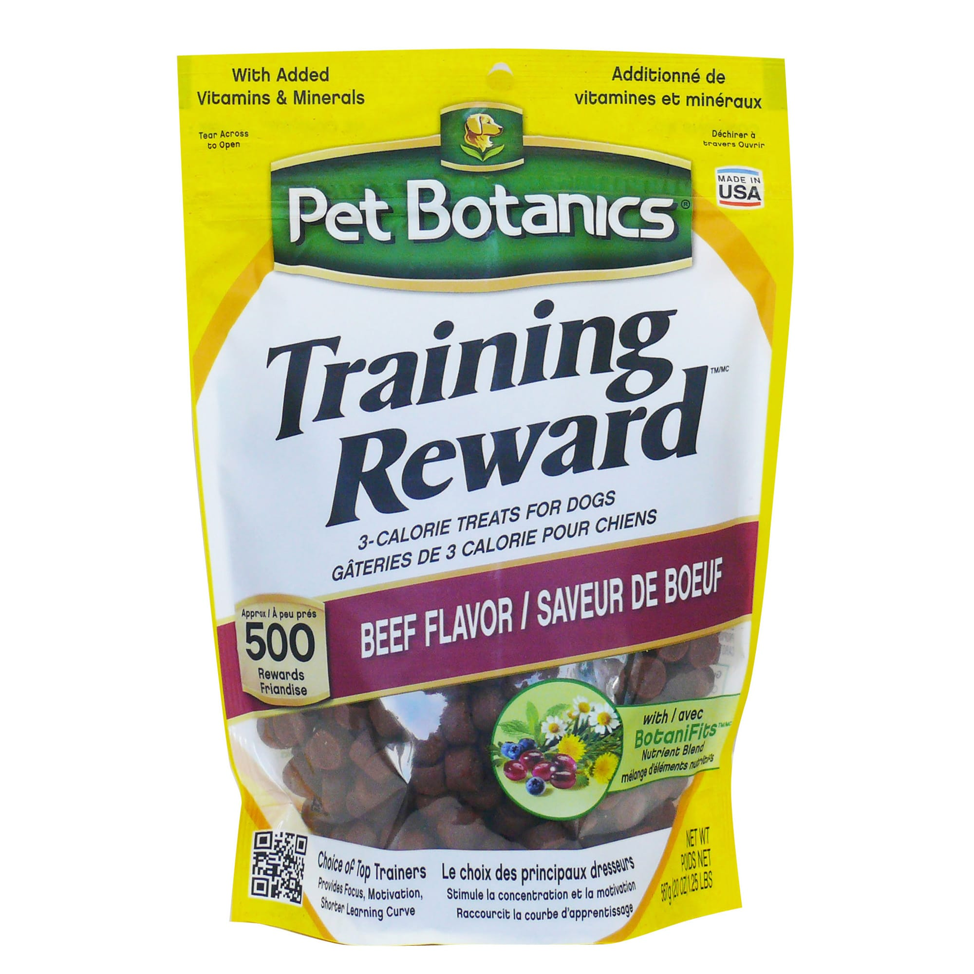 Pet Botanics Training Reward Beef Flavor Dog Treats