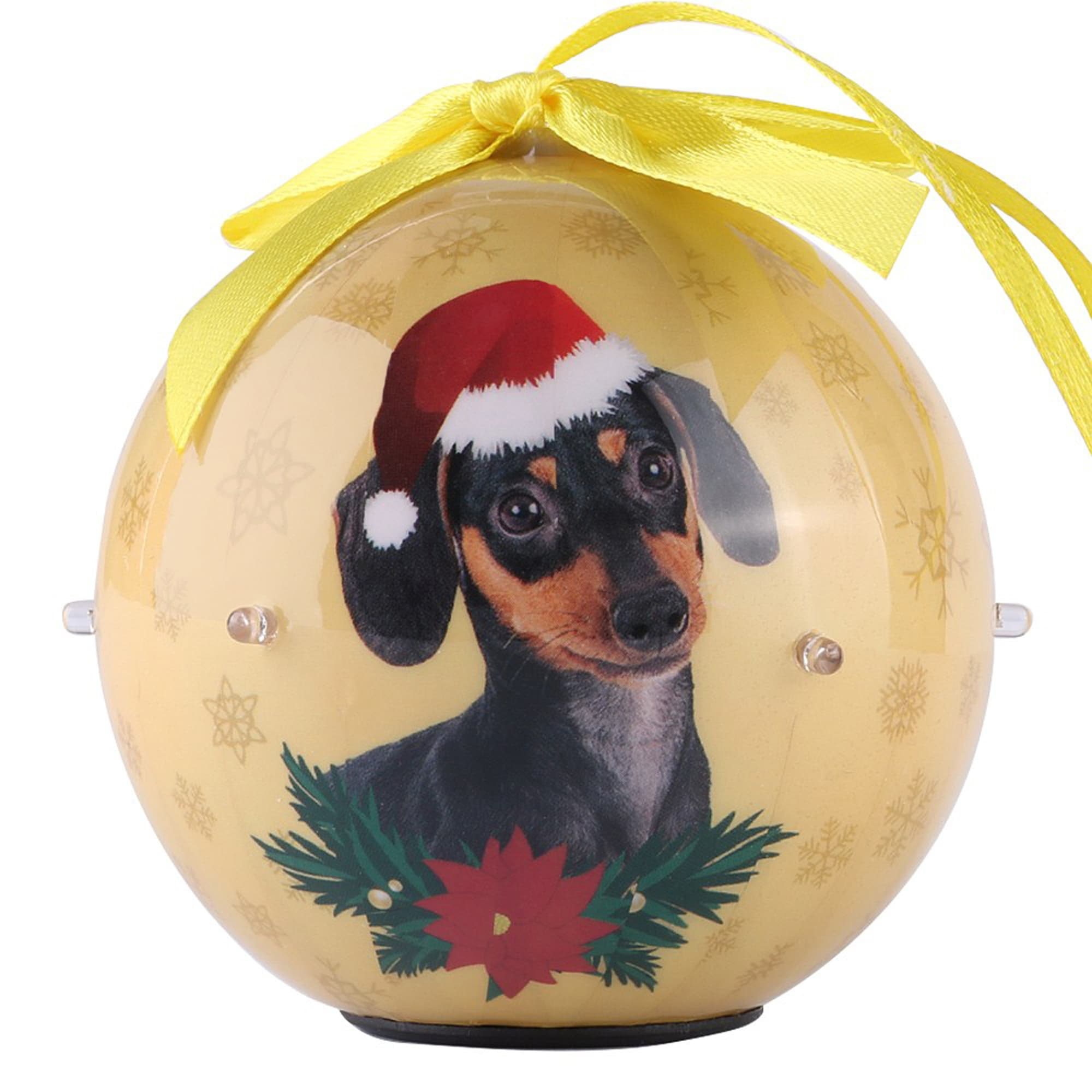 CueCuePet Dachshund Dog Collection Twinkling Lights Christmas Ball Ornament