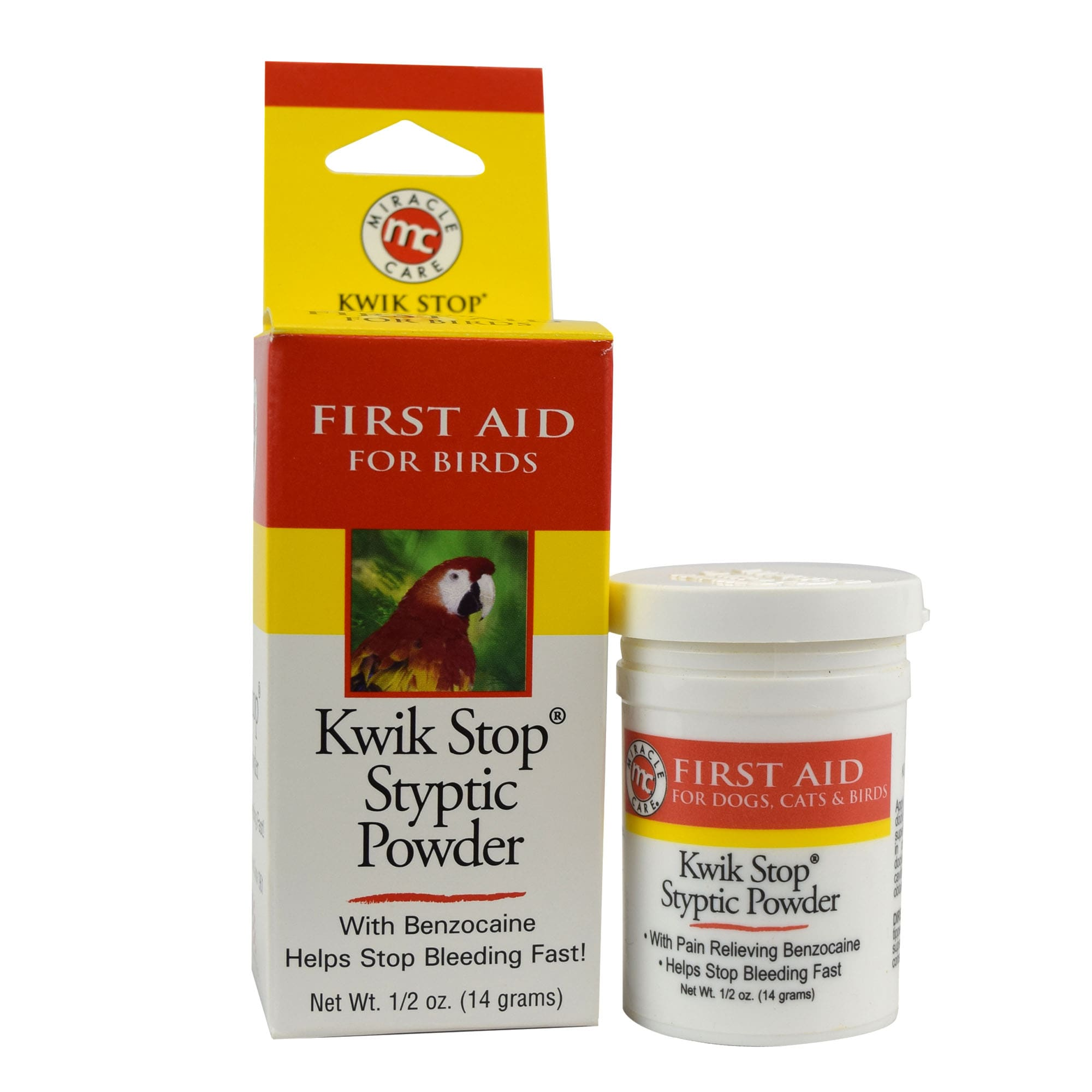 Kwik Stop Styptic Powder Feather Glo for Birds, .5 oz.