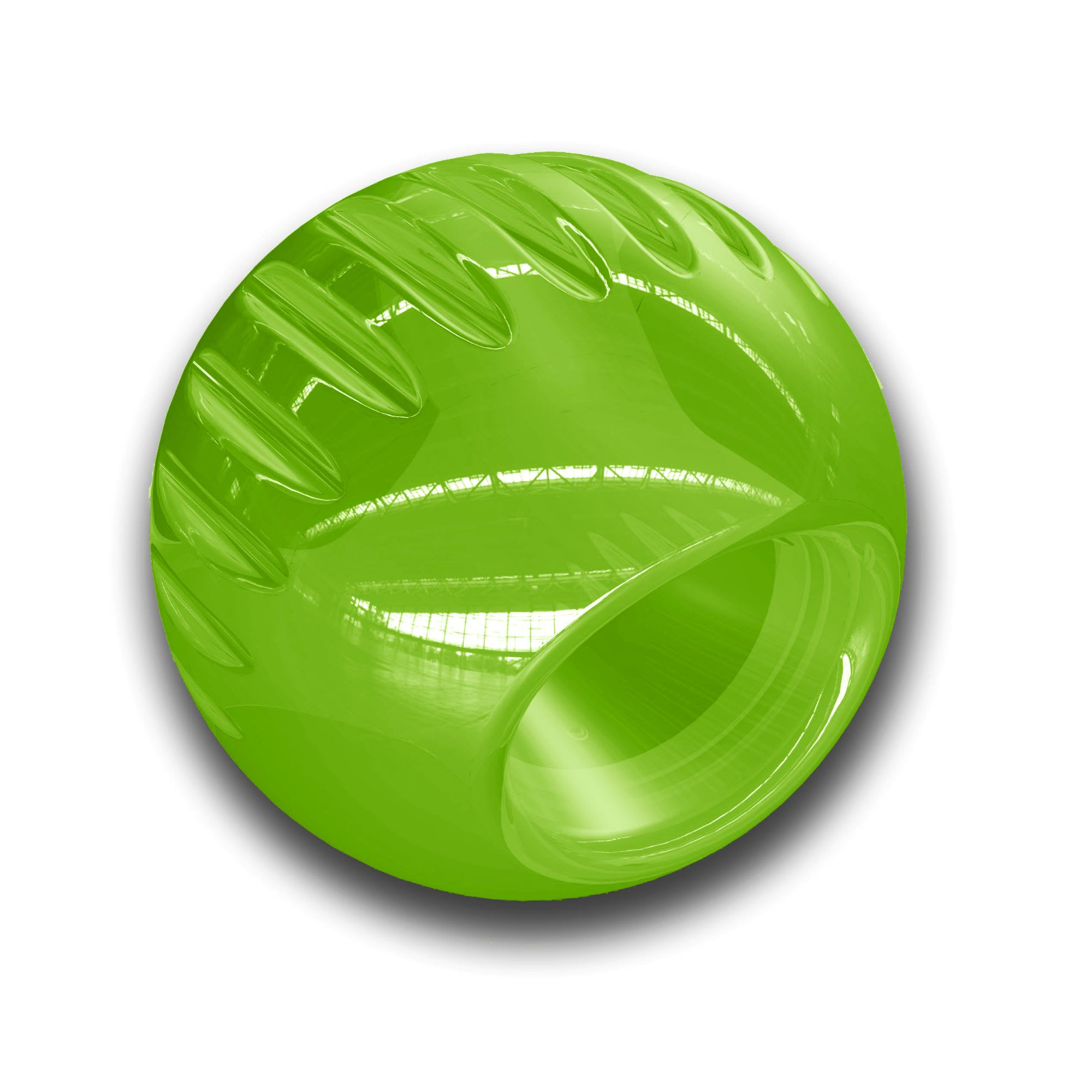 Bionic Translucent Green Ball Dog Toy, Large