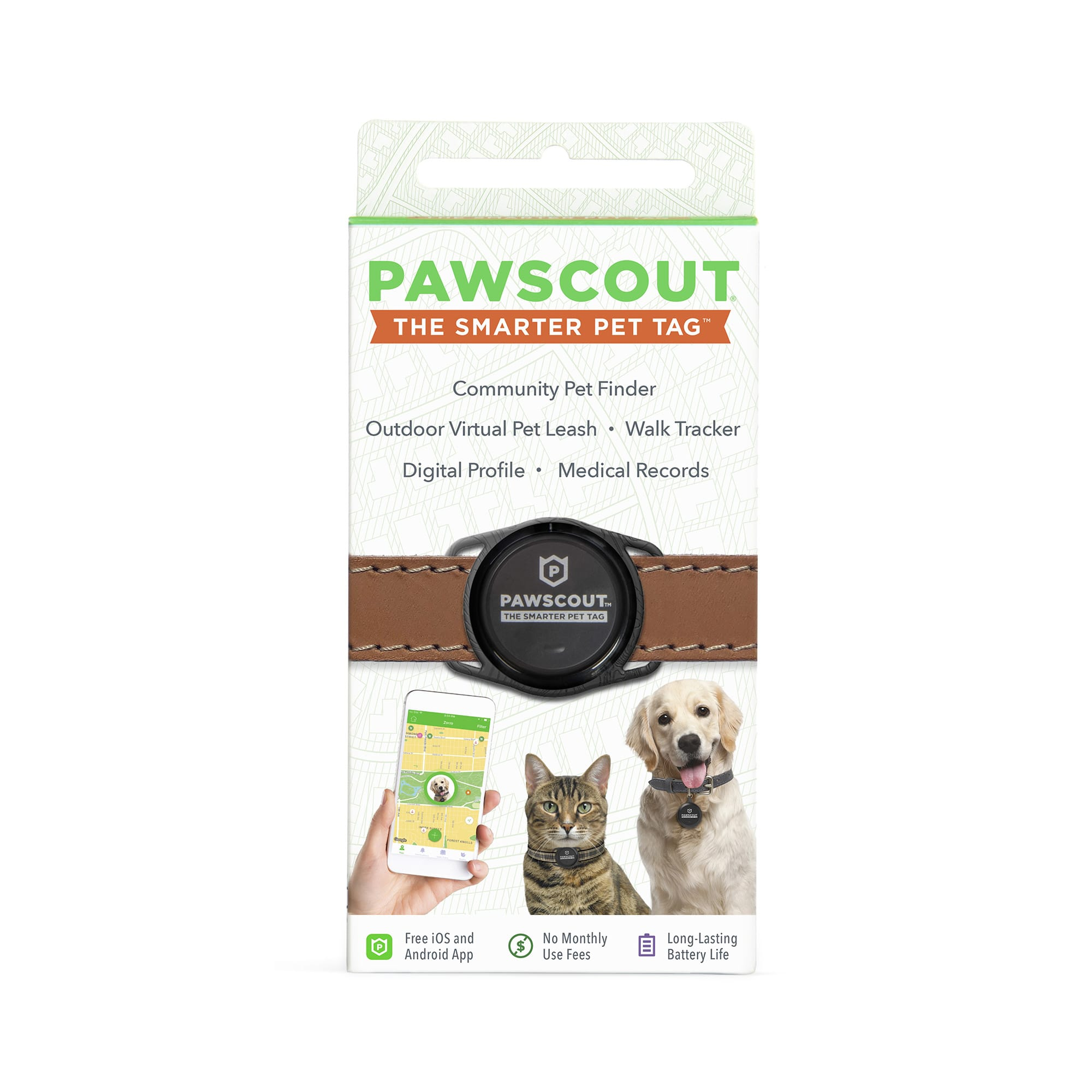 Pawscout Smarter Pet Tag, .08 LB, Black