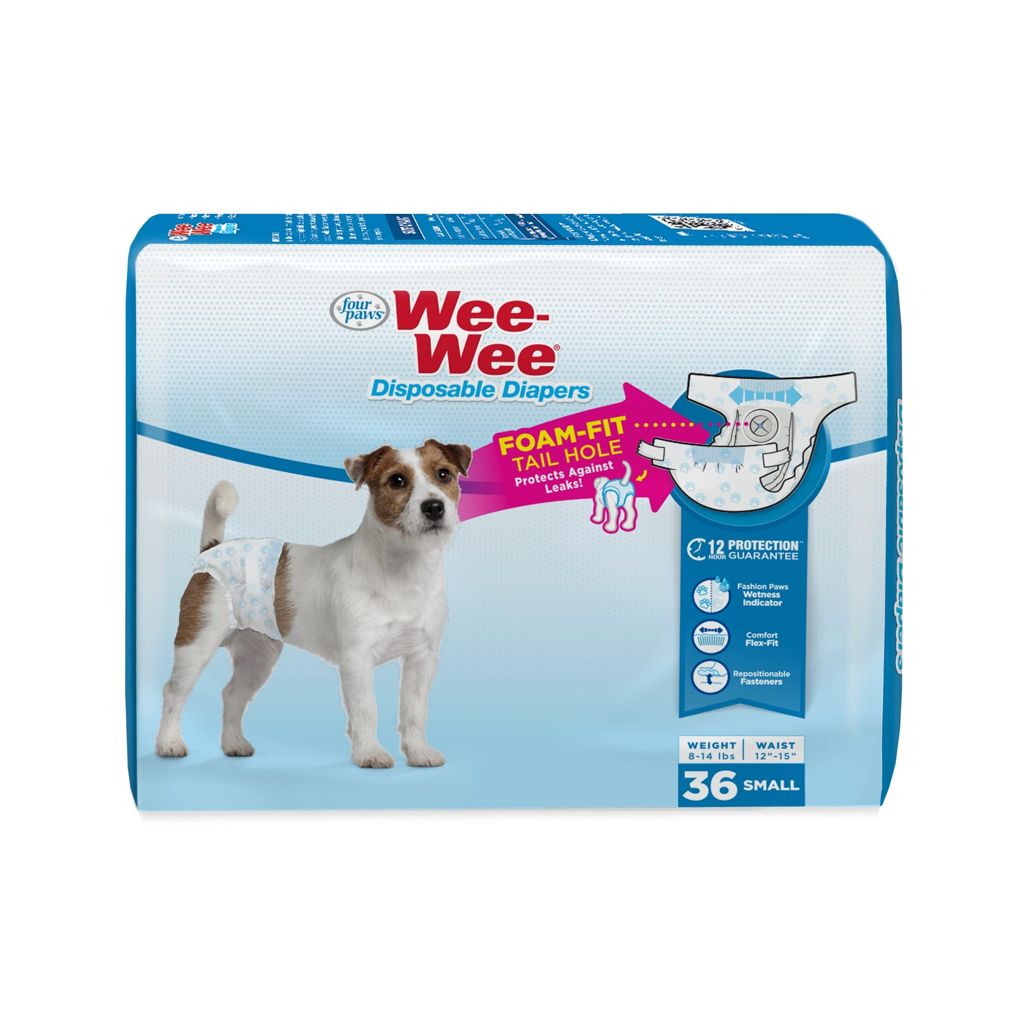 Wee-Wee Disposable Diapers for Dogs, Small, Count of 36