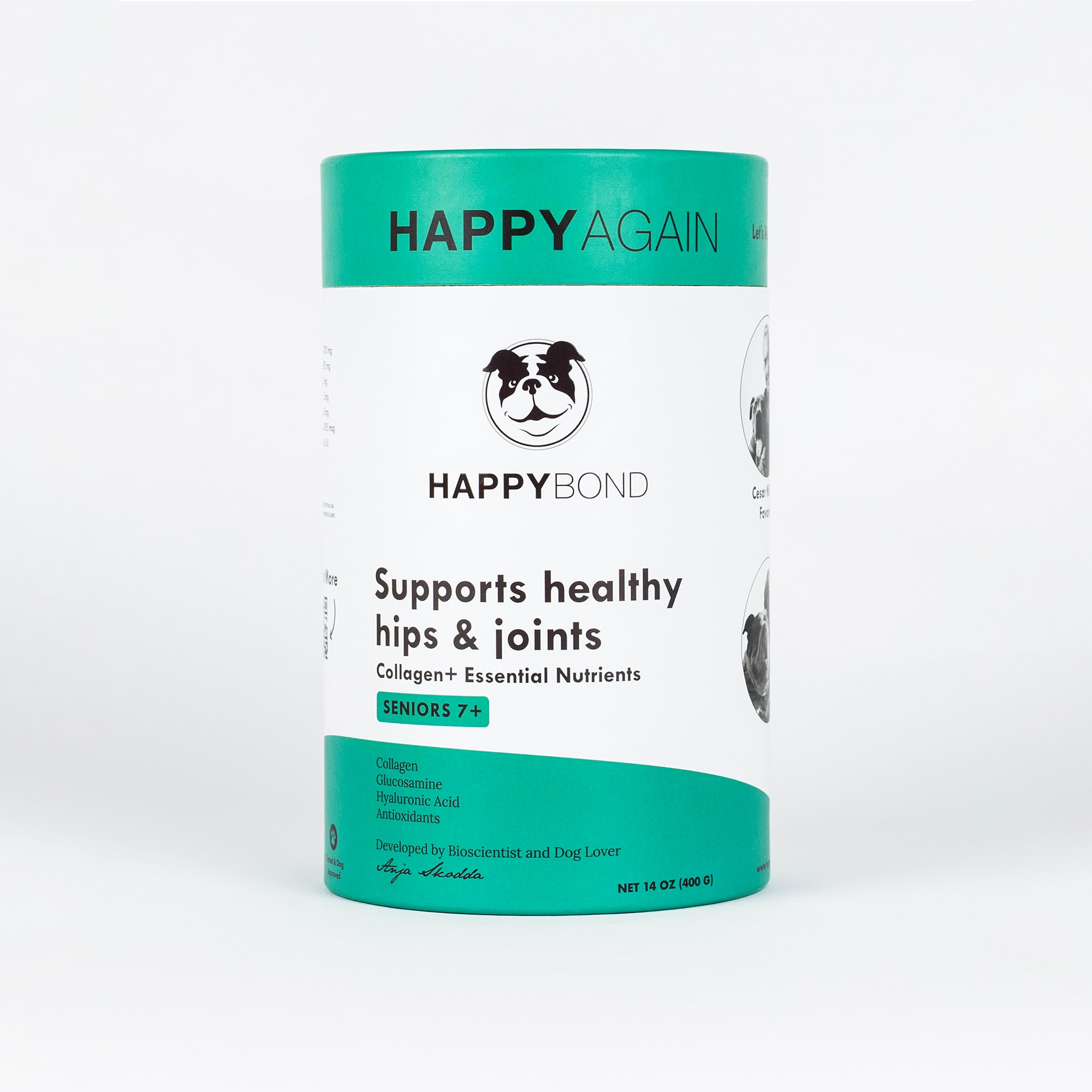 Happy Again Pet Collagen Based Joint Dog Supplement, 14 oz.