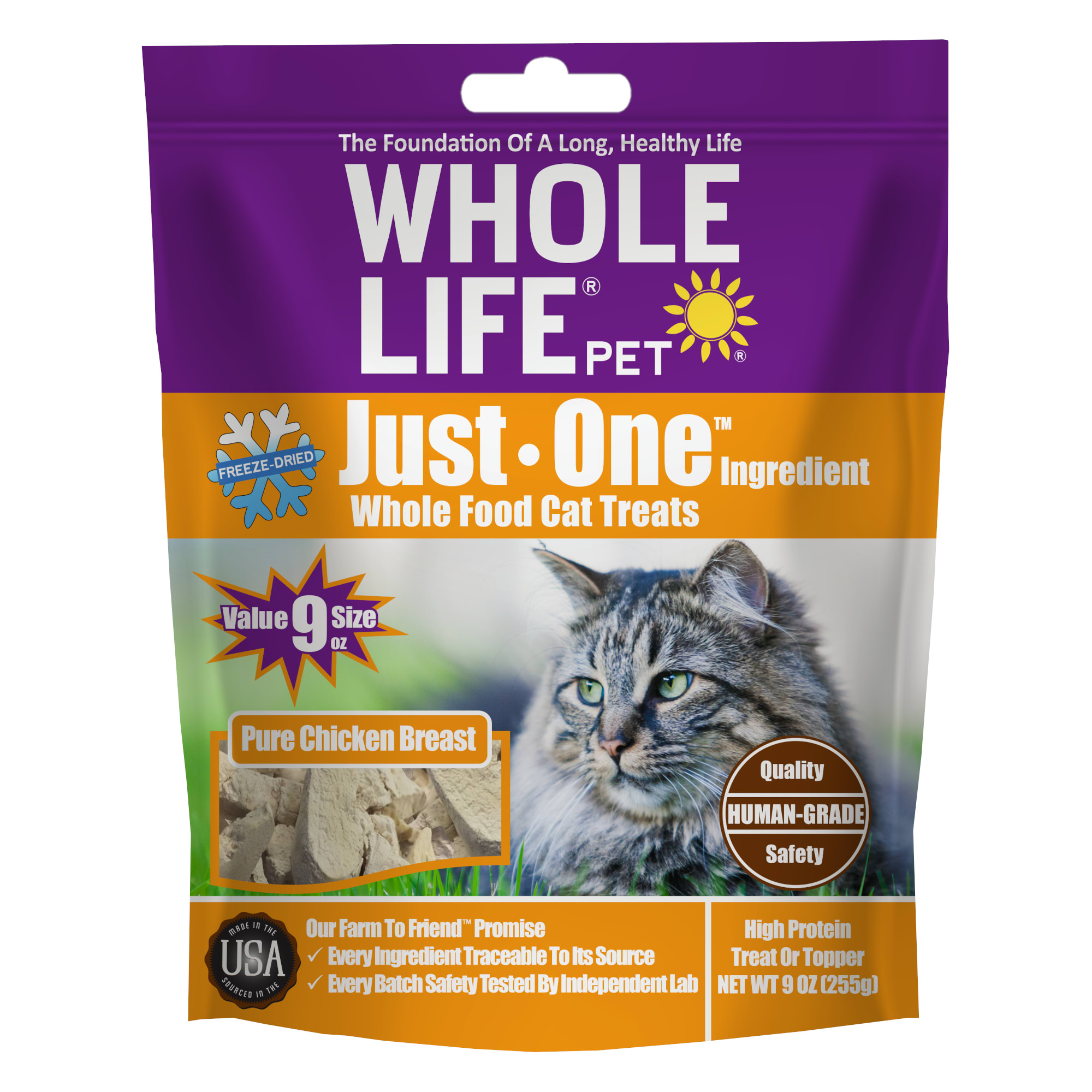 Whole Life Pet Freeze Dried Chicken Cat Treats, 9 oz.