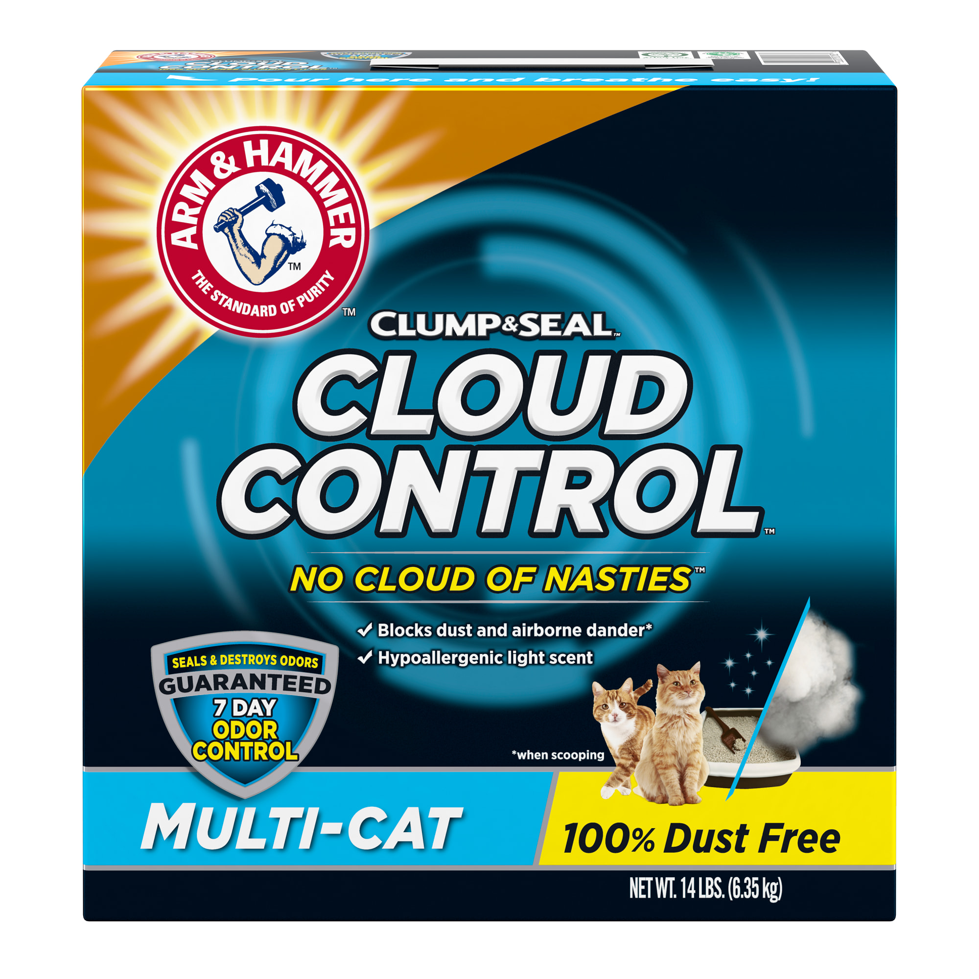 Arm & Hammer Clump & Seal Cloud Control Multi-Cat Clumping Litter