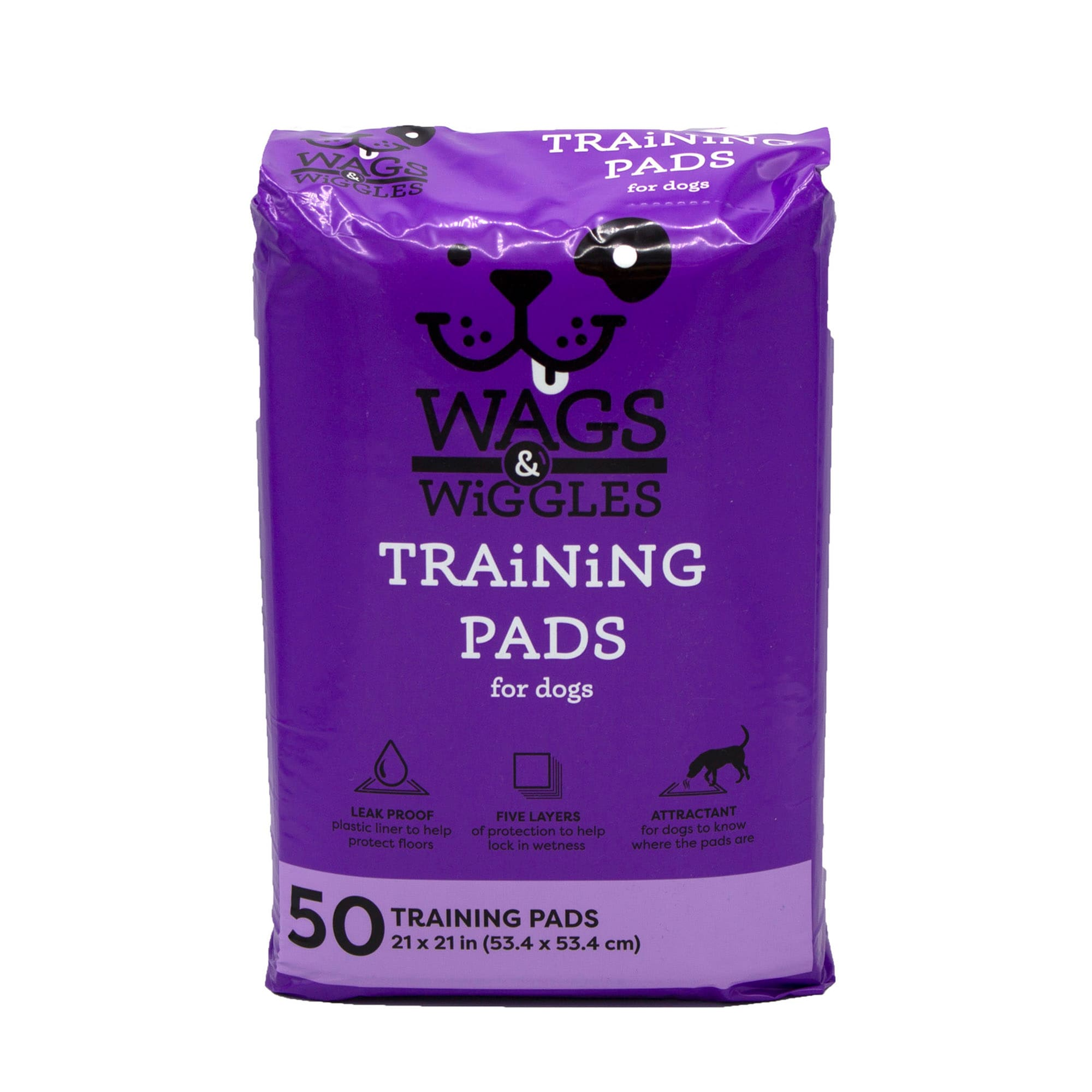 Wags & Wiggles Large Leak Proof Training Pads for Dogs