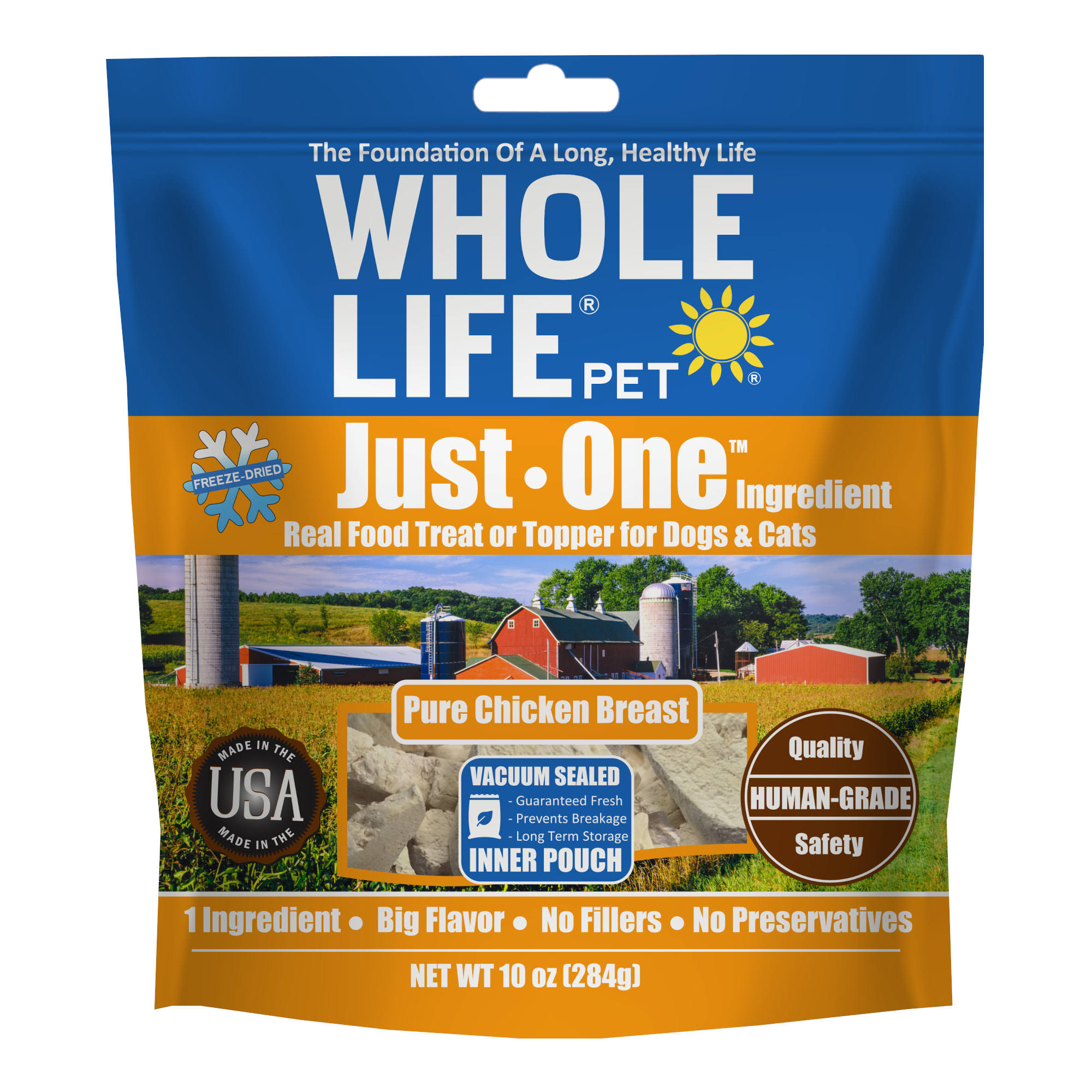 Whole Life Freeze Dried Pure Chicken Breast Whole Food Dog & Cat Treats