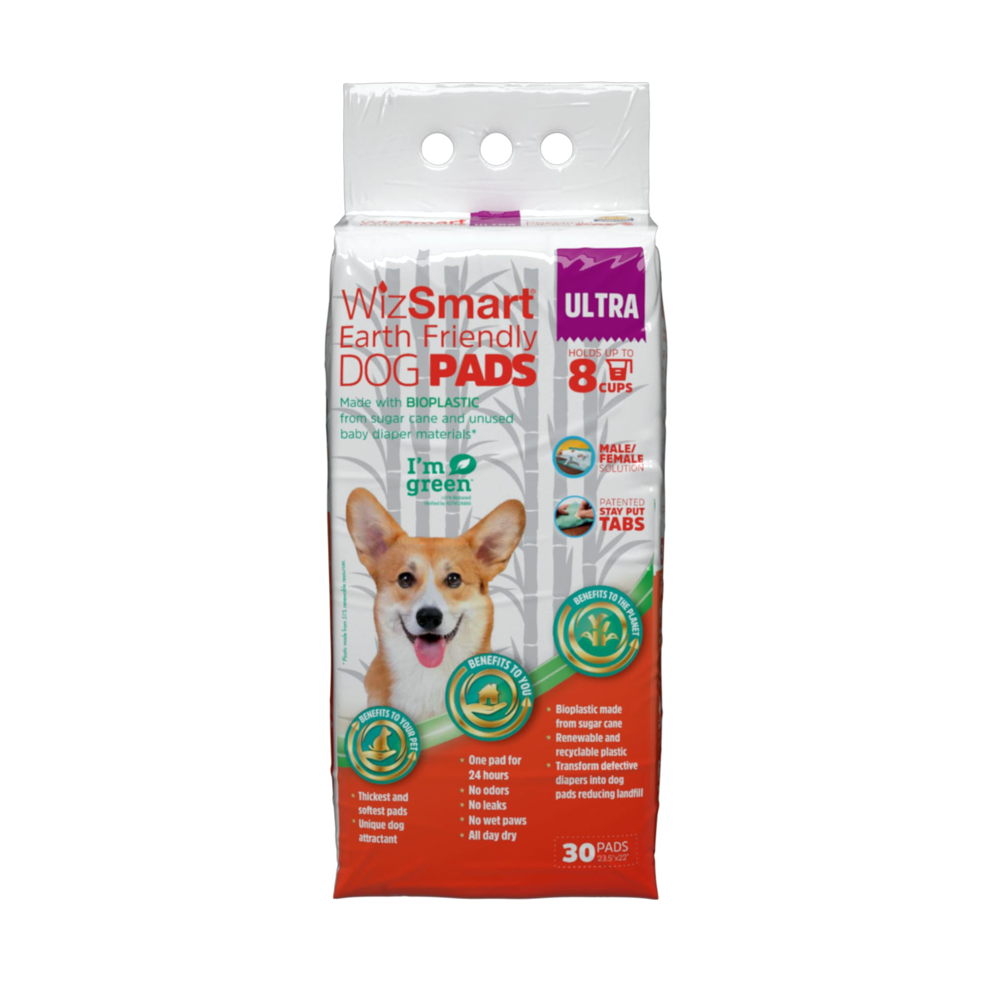 WizSmart Earth Friendly Premium Ultra Dry Dog Pads