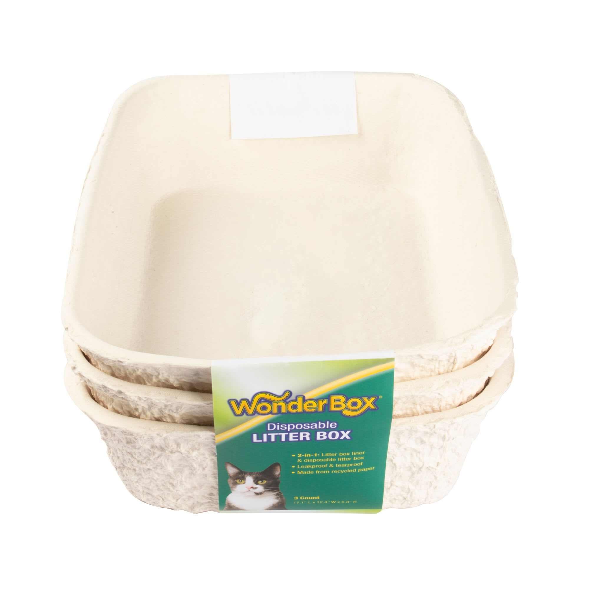 Kitty's WonderBox Disposable Cat Litter Box, 13 IN