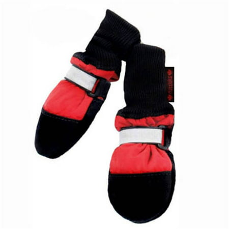 000312 Fleece Lined Muttluks Dog Boots Set of 4 Red Itty Bitty up to 1.5