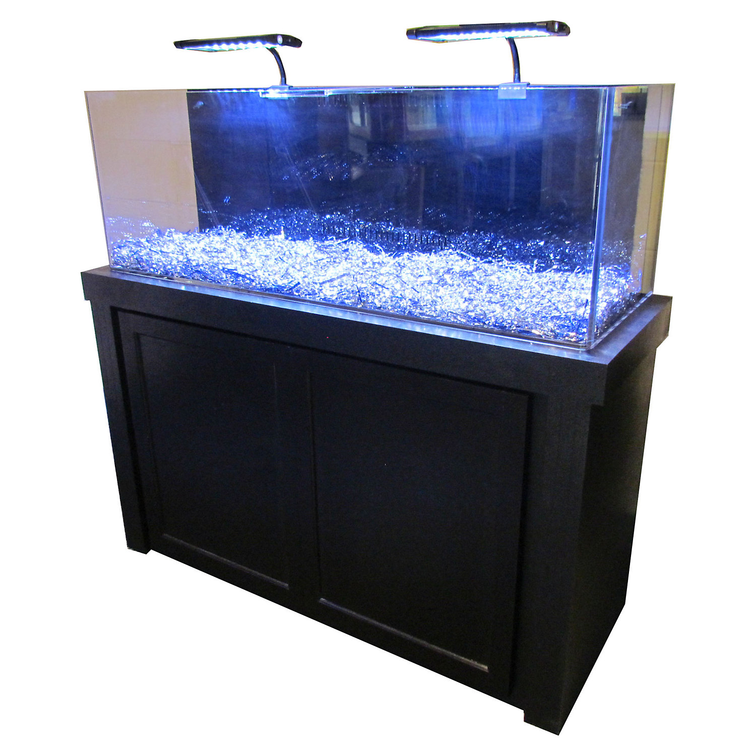 50 Gallon Black Fusion Series Cabinet  Tank Combo