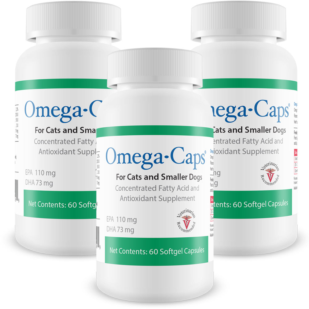 3-Pack Omega-Caps For Cats & Smaller Dogs (180 Softgel Capsules)