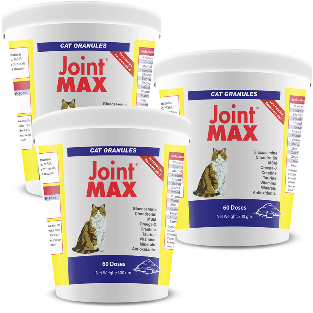 3-PACK Joint MAX Granules for Cats (180 Doses)