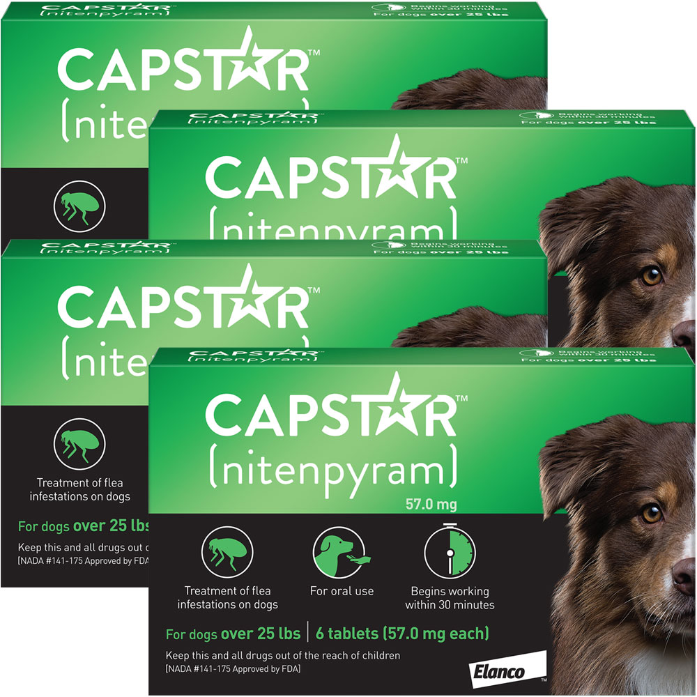 Capstar Flea Control for Dogs Over 25 lbs (24 Tablets)