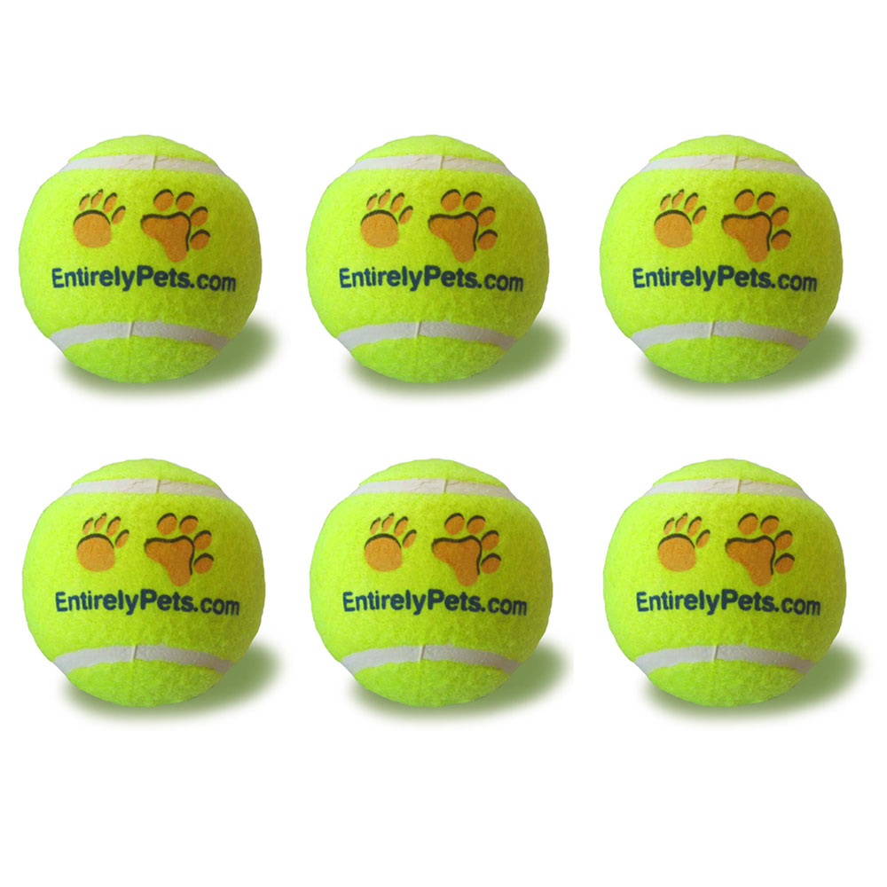 "EntirelyPets Tuff Balls Tennis Ball 6-Pack (2.5"")"
