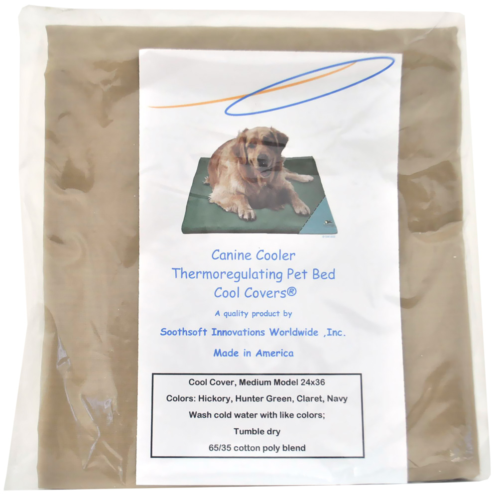 Canine Cooler Bed Cover Claret Neutral - Medium
