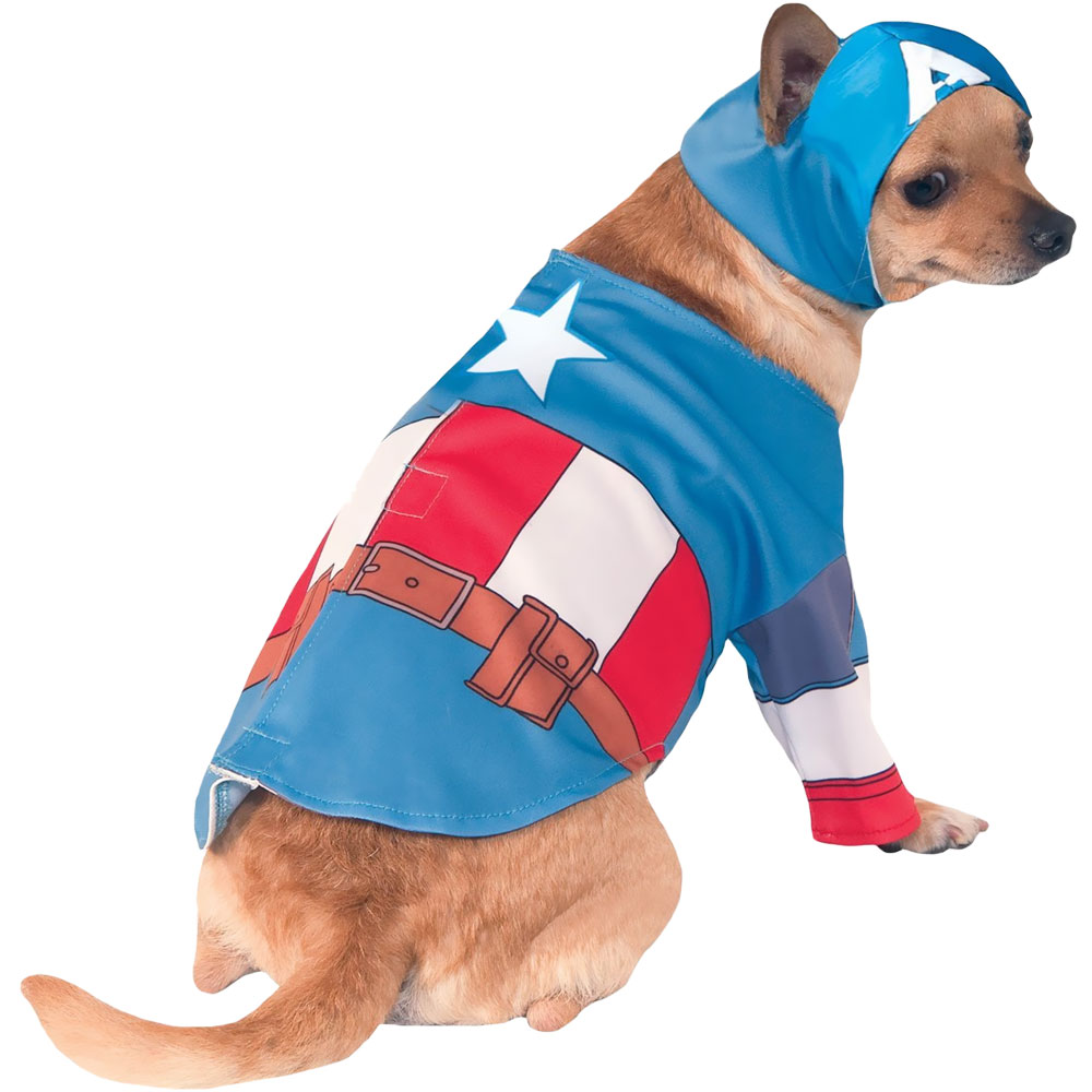 Captain America Dog Costume - XLarge