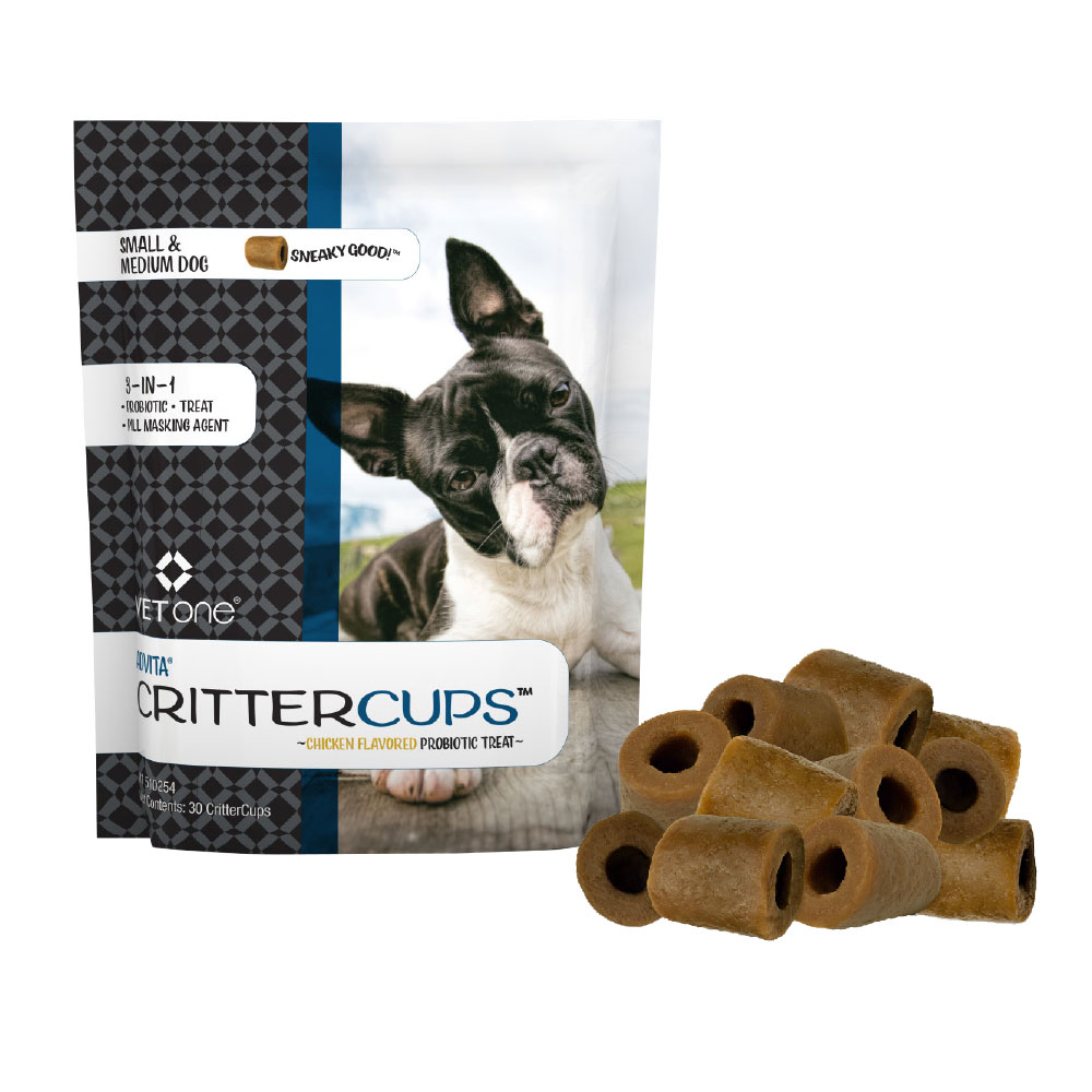 Advita CritterCups Probiotic Treat for Small and Medium Dogs - Chicken Flavor (30 Count)