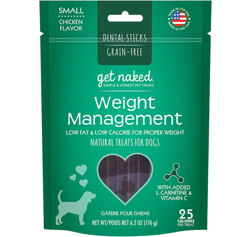Get Naked Weight Management Dental Sticks Treats for Dogs Small (6.2 oz)