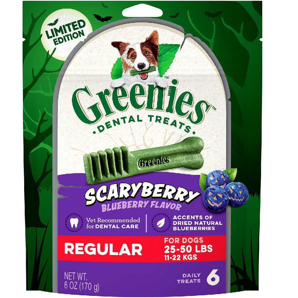 Greenies Scary Berry Blueberry Flavor Regular 6oz (6 Bones)