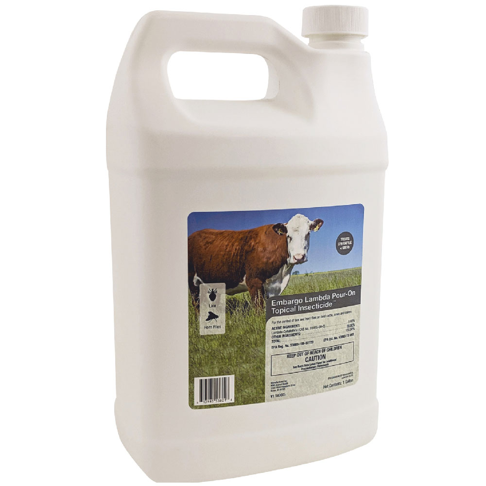 Embargo Lambda Pour-On Topical Insecticide (1 Gallon)