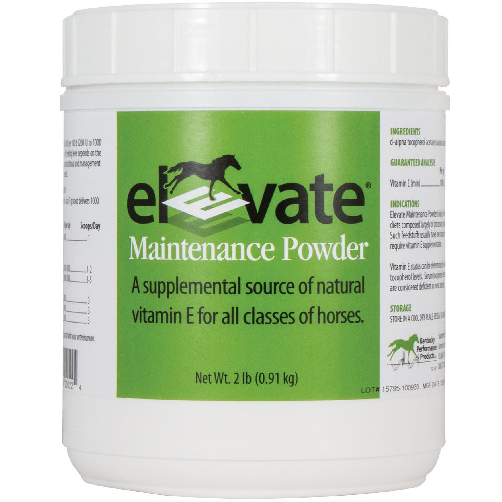 Elevate Maintenance Powder Natural Vitamin E Supplement for Horses (2 lb)