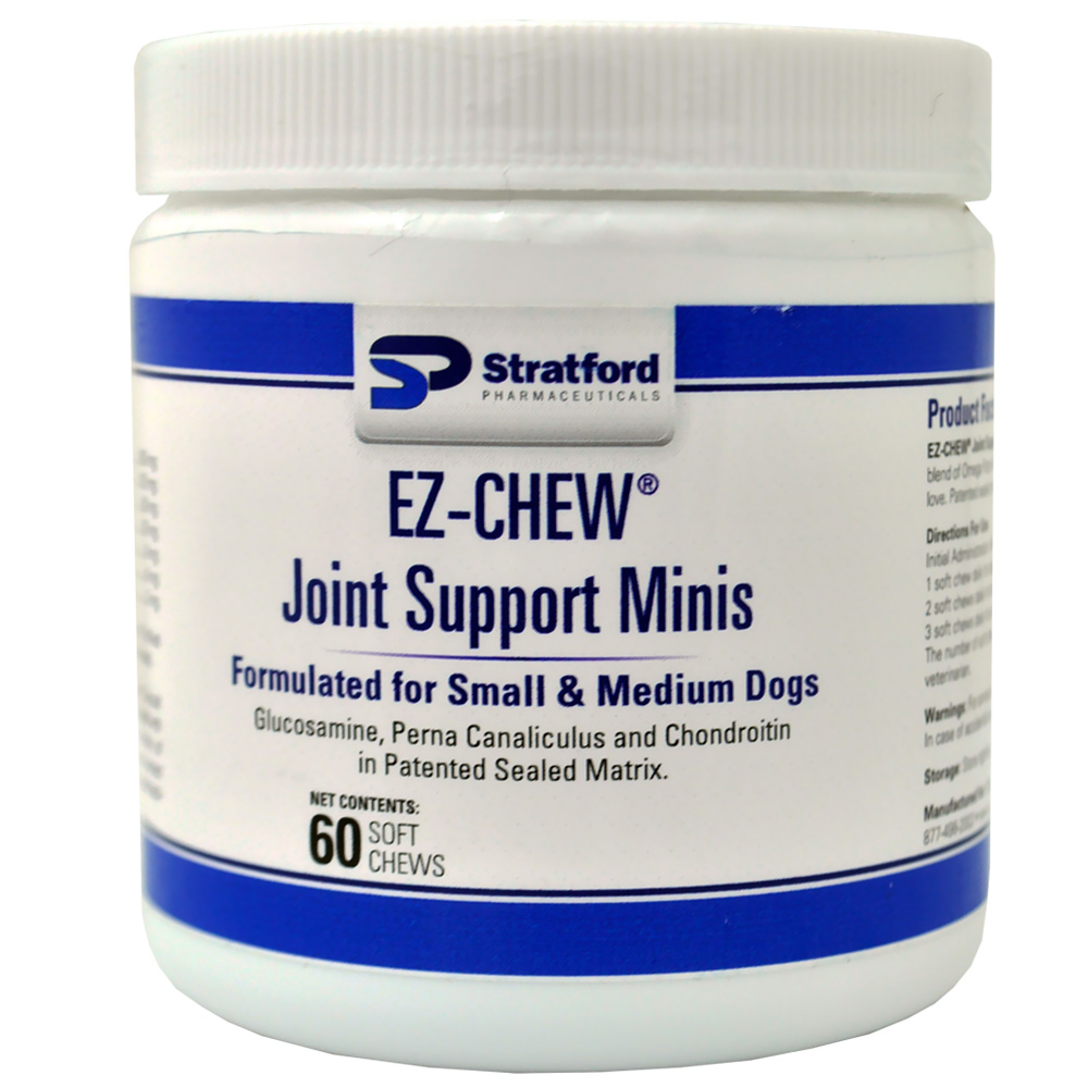 EZ-CHEW Joint Support Minis for Small & Medium Dogs (60 soft chews)