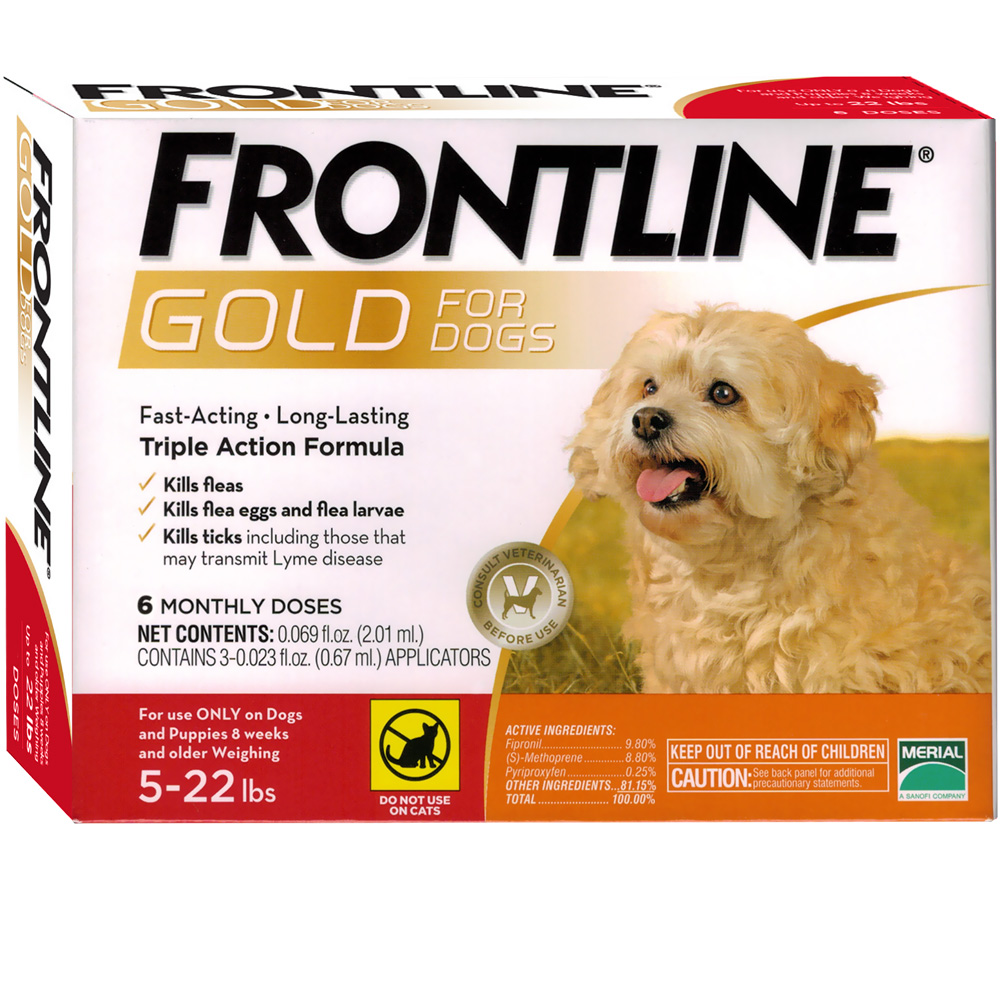 Frontline Gold for Dogs 5-22 lbs, 6 Month