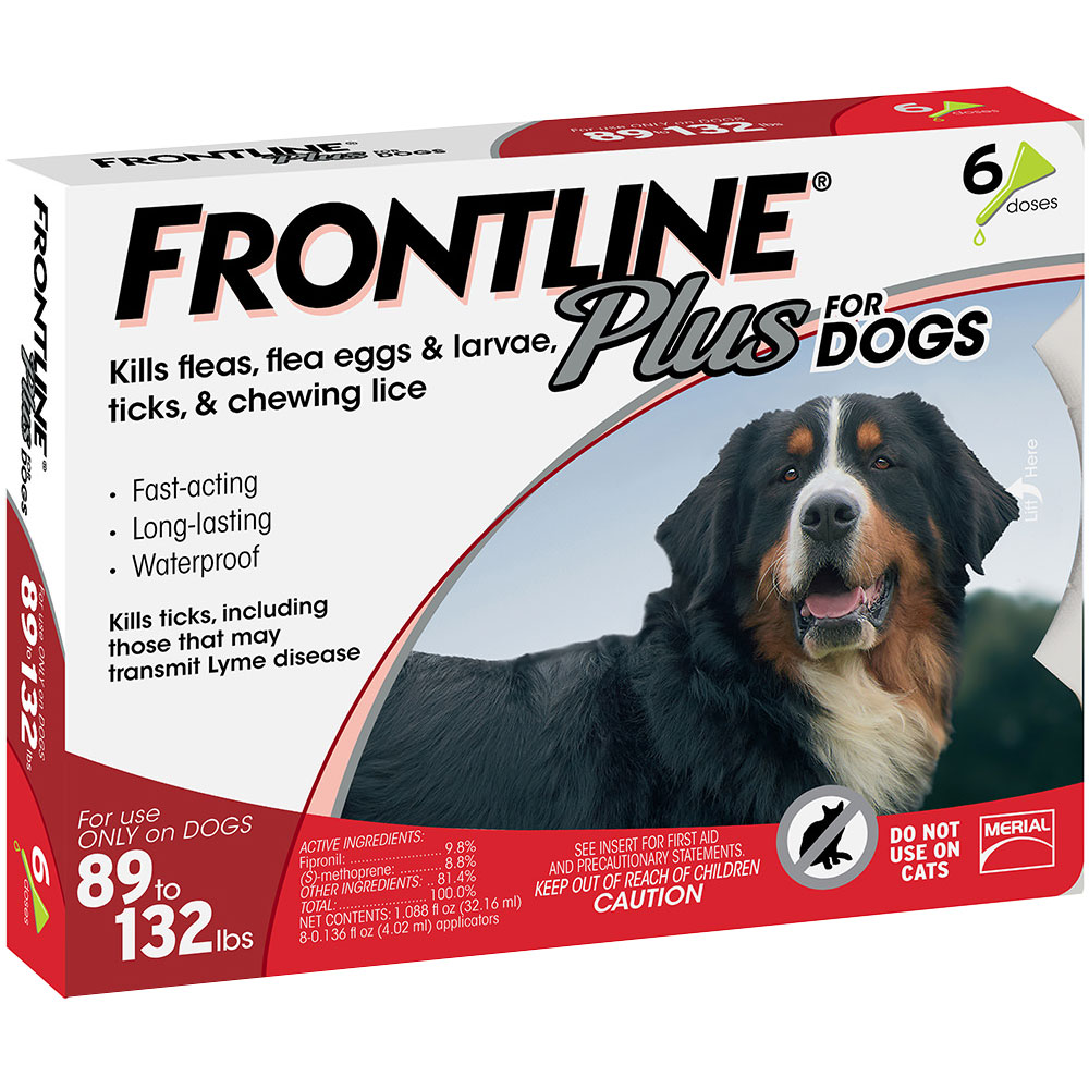 Frontline Plus for Dogs 89-132 lbs, 6 Month
