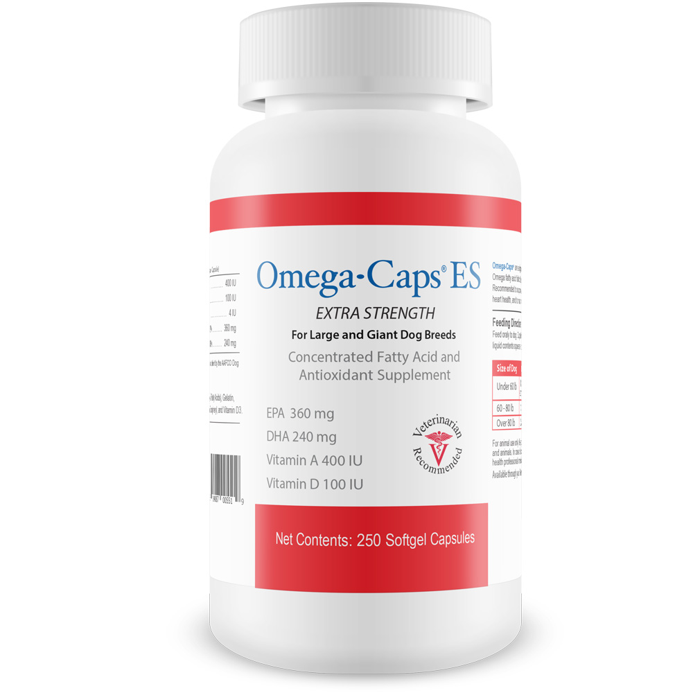 Omega-Caps ES For Large & Giant Dogs (250 Softgel Capsules)